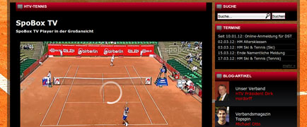 Hessischer Tennis-Verband relaunch