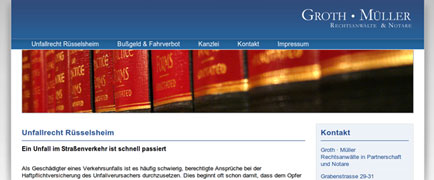 Groth Müller Rechtsanwälte Themenseiten