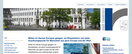 Städtepartnerschaften Rüsselsheim launch
