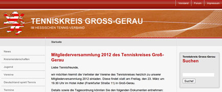 Tenniskreis Groß-Gerau launch