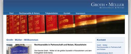 Groth Müller Rechtsanwälte & Notare relaunch