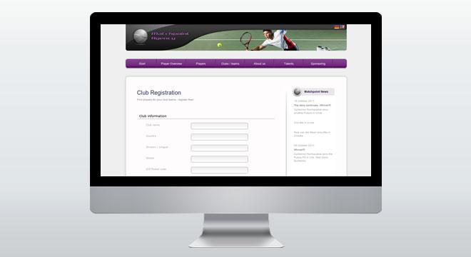 Registrierung Club- & Spielerdatenbank