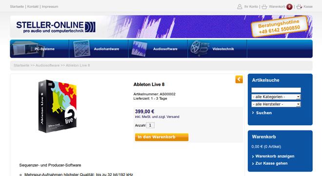 Steller-Online Pro Audio Shop launch