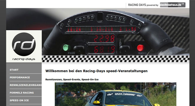 Racing Days launch