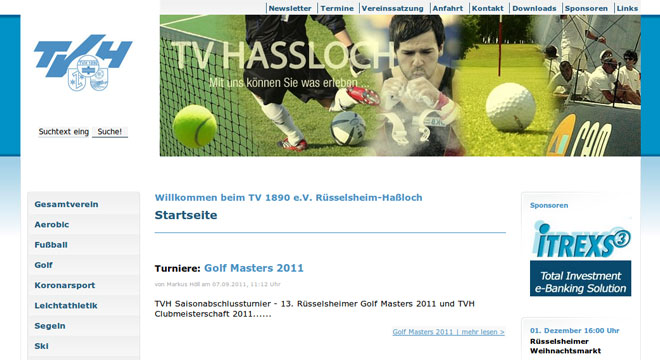 TV 1890 e.V. Rüsselsheim-Haßloch relaunch